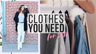 10 WARDROBE ESSENTIALS + Trends for 2018