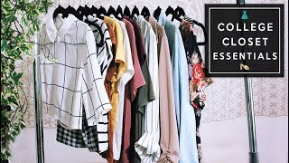Things Every College Student NEEDS in Their Wardrobe! Closet Essentials 2017 | Michelle Kanemitsu