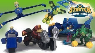 Stretch Armstrong Flex Fighters New Toys Hasbro Netflix 2018 Flexcycle HQ || Keith's Toy Box