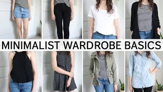 10 MINIMALIST WARDROBE BASICS | versatile & minimal clothing essentials