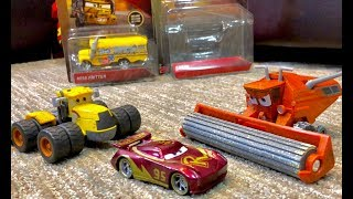 New Disney Cars 3 Toys 2018 Frank & Scott Tiller Review 🚜 River Scott Trains Lightning McQueen