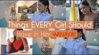 Things EVERY Girl Should Have In Her Wardrobe! | My FIRST Shopping Haul! | Komal Pandey