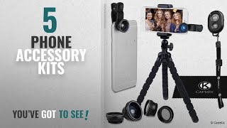 Top 10 Phone Accessory Kits [2018]: Smartphone Photography Kit – Flexible Cell Phone Tripod,