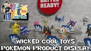 Pokemon Wicked Cool Toys Product Display at New York Toy Fair 2018