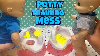 [Video] Baby Alive boys USE THE POTTY STANDING UP makes a BIG MESS