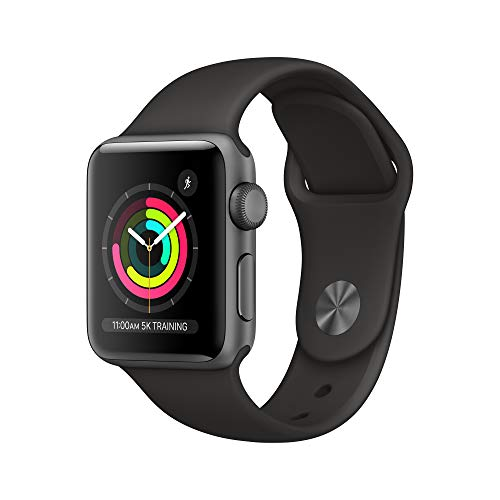 Apple Watch Series 3 (GPS, 38mm) – Space Gray Aluminum Case with Black Sport Band