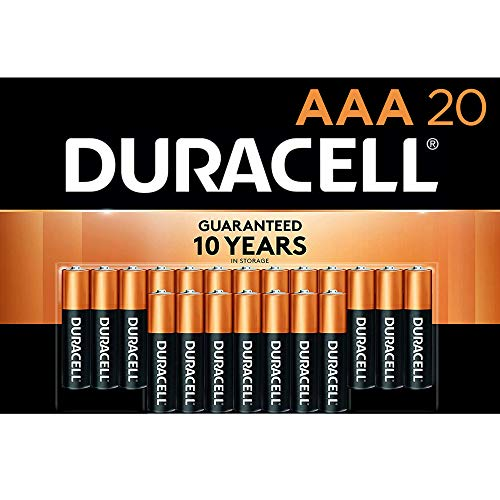 Duracell – CopperTop AAA Alkaline Batteries – long lasting, all-purpose Triple A battery for household and business – 20 Count