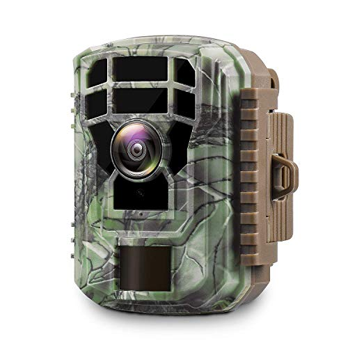 """【2020 Upgrade】 Campark Mini Trail Camera 16MP 1080P HD Game Camera Waterproof Wildlife Scouting Hunting Cam with 120° Wide Angle Lens and Night Vision 2.0"""" LCD IR LEDs"""