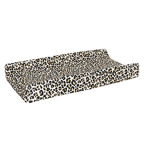 Posh Peanut Baby Changing Pad Cover Stretchy Bamboo Viscose, for Standard 16″ by 32″ – Lana Leopard Tan