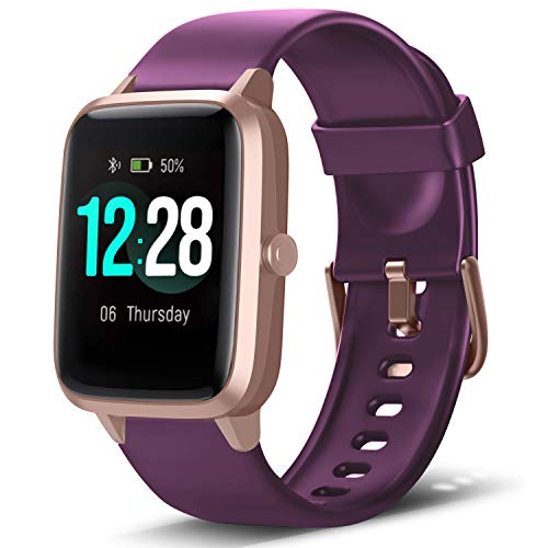 LETSCOM Smart Watch Fitness Tracker Heart Rate Monitor Step Calorie Counter Sleep Monitor Music Control IP68 Water Resistant 1.3″ Color Touch Screen Activity Tracking Pedometer for Women Men