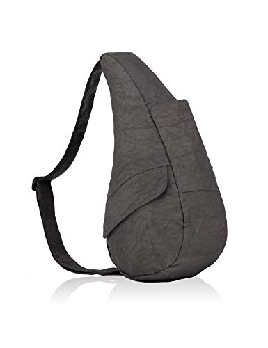 AmeriBag Classic Healthy Back Bag Tote Distressed Nylon Extra Small (Stormy Grey)
