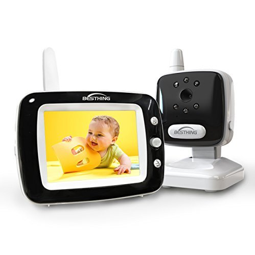 BESTHING Baby Monitor, Digital Video Baby Monitor with Camera, 3.5 Inch Color Screen, Long Range Wireless Monitoring, Night Vision, Soothing Lullabies, Two Way Audio and Temperature Display