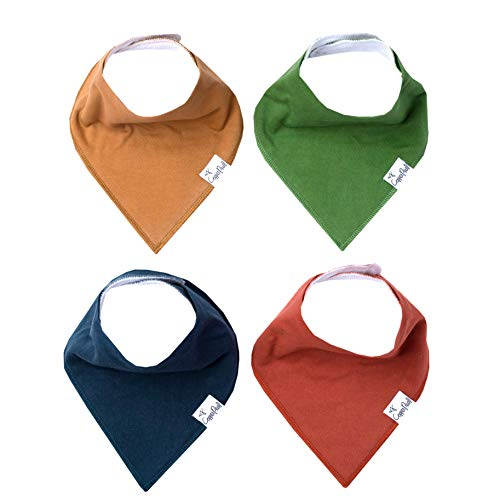 "Baby Bandana Drool Bibs for Drooling and Teething 4 Pack Gift Set ""Ridge"" by Copper Pearl"