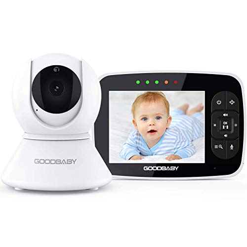 """Baby Monitor with Remote Pan-Tilt-Zoom Camera Keep Babies Safe with 3.5"""" Large Screen, Night Vision, Talk Back, Room Temperature, Lullabies, 960ft Range by GoodBaby SM35PTZ"""