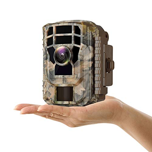 """Campark Mini Trail Camera 16MP 1080P HD Game Camera Waterproof Wildlife Scouting Hunting Cam with 120° Wide Angle Lens and Night Vision 2.0"""" LCD IR LEDs"""