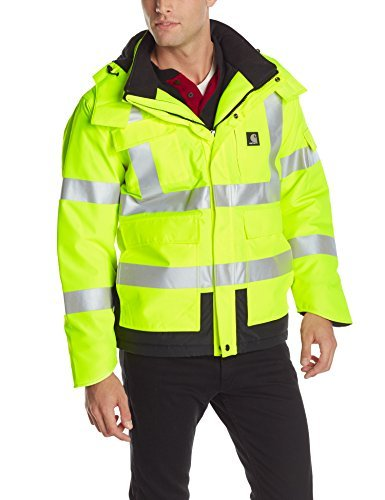 Carhartt Men's High Vis Waterproof Class 3 Insulated Sherwood Jacket,Brite Lime,X-Large