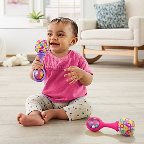 Fisher-Price Deluxe Kick & Play Piano Gym & Maracas, Pink