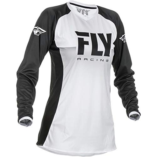 Fly Racing 2019 Women's Lite Jersey (Small) (White/Black)