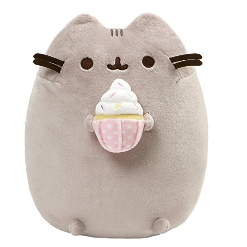 GUND Pusheen Snackables Sprinkled Cupcake Plush Stuffed Cat, 9.5″