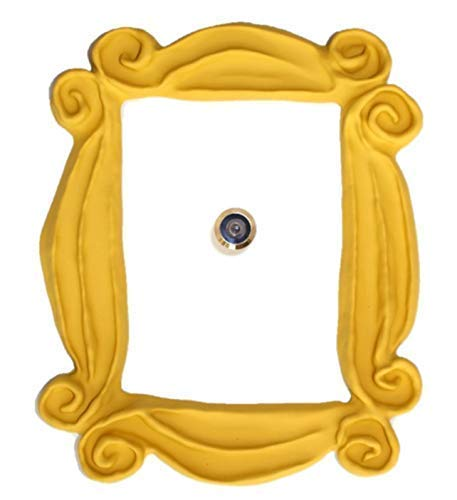 HANDMADE WITH LOVE BY FATIMA. Yellow Frame. It Includes a Peephole Sticker. It has Also Two Side Tape in The Back. Ready to Hang. Replica of The Frame seen in Monica's Door. Friends Present.