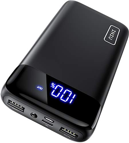 INIU Portable Charger, LED Display 20000mAh Dual 3A High-speed Ports with USB C Input Flashlight Power Bank, External Phone Battery Pack for iPhone XS X 8 7 Plus Samsung S10 Google LG iPad Airpod etc.