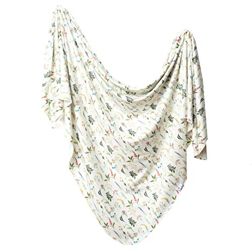 """Large Premium Knit Baby Swaddle Receiving Blanket""""Aspen"""" by Copper Pearl"""