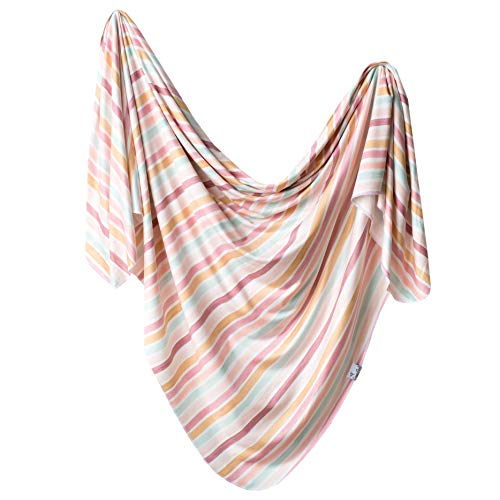 """Large Premium Knit Baby Swaddle Receiving Blanket""""Belle"""" by Copper Pearl"""