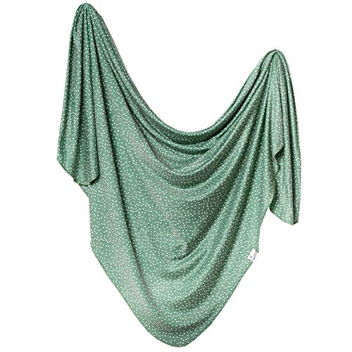 """Large Premium Knit Baby Swaddle Receiving Blanket""""Juniper"""" by Copper Pearl"""