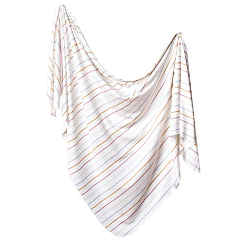 """Large Premium Knit Baby Swaddle Receiving Blanket""""Piper"""" by Copper Pearl"""