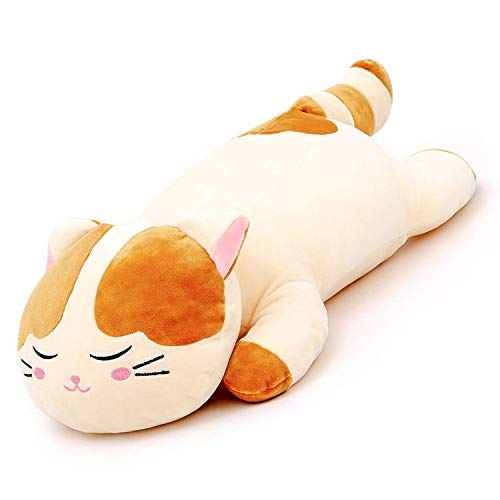 Lazada Cat Pillow Stuffed Animal Pillow Pet Plush Gifts for Toddlers Kids and Girls 18 Inches Brown