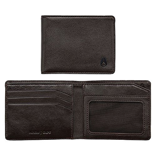 Nixon Men's Escape Leather Wallet with Clip, Brown, One Size
