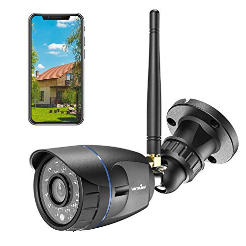 Outdoor Security Camera, Wansview 1080P Waterproof WiFi Home Security Surveillance Bullet Camera with Night Vision, Motion Detection and Remote View, Compatible with Alexa (Black)