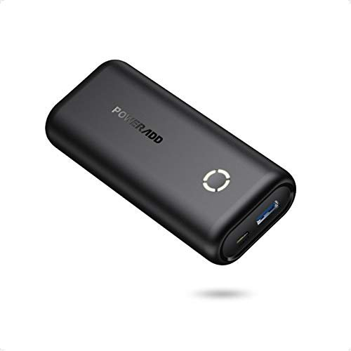 POWERADD EnergyCell 10000, Ultra-Compact High-Speed Charging Portable Charger, Smallest and Lightest 10000mAh Power Bank Compatible for iPhone 11 XS X 8 Plus Samsung S10 Google LG iPad and More(Black)