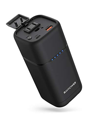 Portable Charger RAVPower 80W AC Outlet Power Bank 20000mAh 30W PD USB C Laptop Charger External Battery Pack for MacBook Pro Dell iPad Pro Nintendo Switch iPhone Samsung(USB C Charger Not Included)