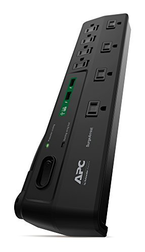 Power Strip with USB Charging Ports, Surge Protector P8U2, 2630 Joules, Flat Plug, 8 Outlets