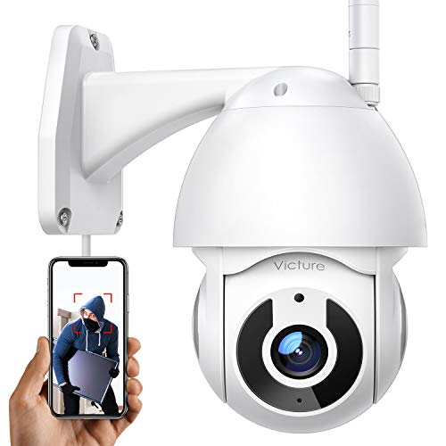 Security Camera Outdoor, Victure 1080P WiFi Home Security Camera with Pan/Tilt 360° View, Night Vision, IP66 Waterproof, Motion Detection Compatible with iOS/Android