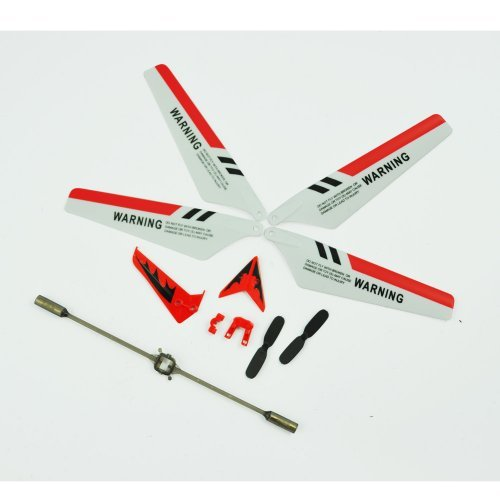 """Syma S107 Full Replacement Parts Set for Syma S107 RC Helicopter Main Blades, Tail Decorations, Tail Props, Balance Bar RED Set""."