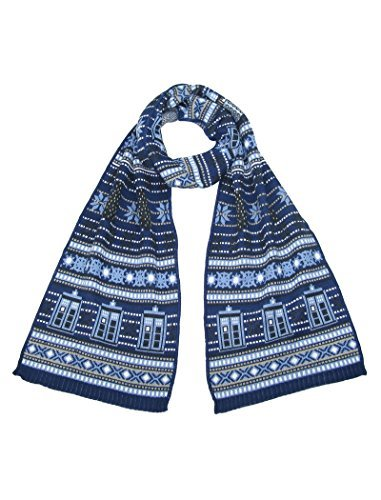 TARDIS and Daleks Christmas Scarf – Official Doctor Who Scarf by LOVARZI