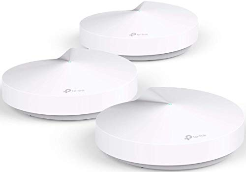 TP-Link Deco Mesh WiFi System –Up to 5,500 sq. ft. Whole Home Coverage and 100+ Devices,WiFi Router/Extender Replacement, Parental Controls/Anitivirus, Seamless Roaming(Deco M5 3-Pack)