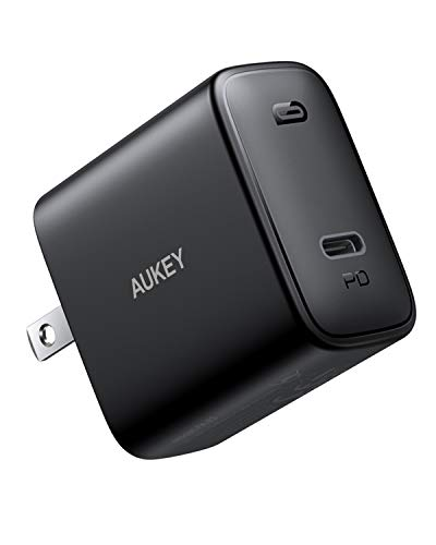 USB C Charger, AUKEY 30W PD 3.0USB C Wall Charger with Foldable Plug, Power Delivery Fast Charger for iPhone SE, iPhone 11 Pro Max, MacBook, iPad Pro, AirPods Pro, Google Pixel 4 XL, Nintendo Switch