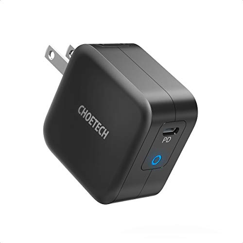 USB C Charger, CHOETECH 61W Power Delivery Fast Charger [PD 3.0 & GaN Tech] Type C Foldable Wall Charger Compatible with MacBook Pro/Air, iPad Pro, iPhone 11 Pro Max/SE, Dell XPS, Pixel 4 and More