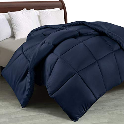 Utopia Bedding Comforter Duvet Insert – Quilted Comforter with Corner Tabs – Box Stitched Down Alternative Comforter (Queen, Navy)