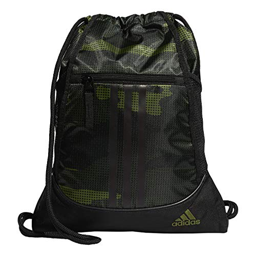 adidas Unisex Alliance II Sackpack, Tech Olive Off The Grid Camo/Black, ONE SIZE