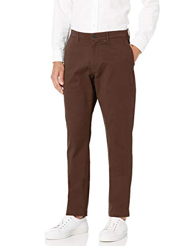 Amazon Brand – Goodthreads Men's Athletic-Fit Washed Comfort Stretch Chino Pant, Brown 34W x 32L