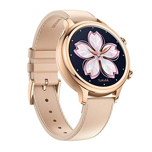 TicWatch C2 Fitness Smart Watch Classic Fashion Design with All Day Heart Rate Monitor, Built-in GPS, NFC Payment, Notifications and Alert, Compatible with Android and iOS (Rose Gold)