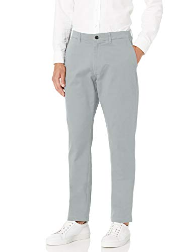 Amazon Brand – Goodthreads Men's Athletic-Fit Washed Comfort Stretch Chino Pant, Light Grey 38W x 28L