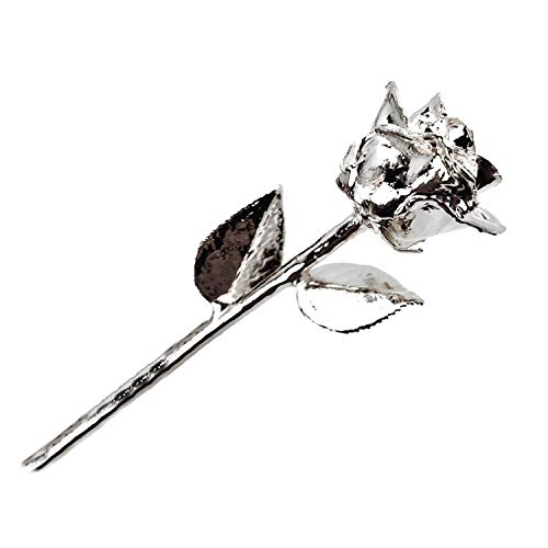 Forever Rose, a Genuine, One of a Kind, Real Rose, Hand Dipped to Last a Lifetime (Pure Silver)