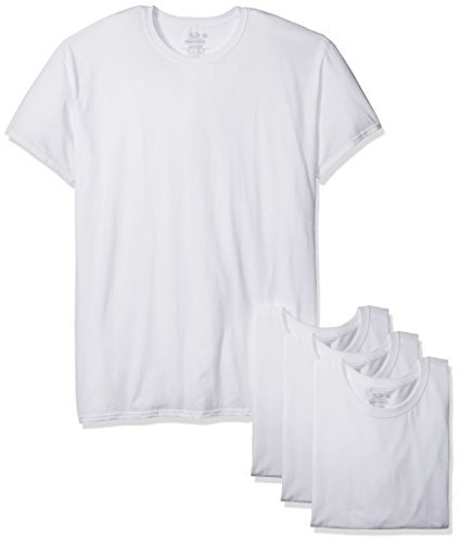 Fruit of the Loom Men's 3-Pack Breathable Crew T-Shirt, White Ice – Big Sizes, 3X-Large