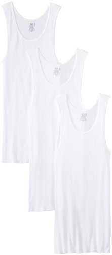 Fruit of the Loom Men'sBig Man White A-Shirt(Pack of 3) (White, Large)