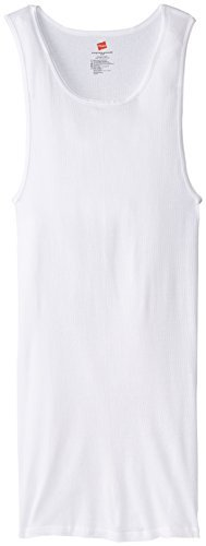 Hanes Men's Tall Man A-Shirt, White, X-Large/Tall (Pack of 3)